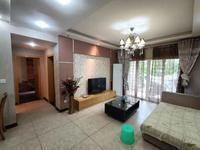 滨江路黄金海岸花园小区房标准2室2厅大阳台家私齐全